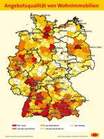 Kaart kwaliteitsaanbod Duitsland