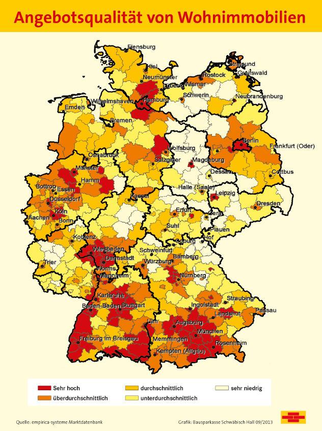 De Kwaliteit Van Het Huizenaanbod In Duitsland Toont Duidelijke