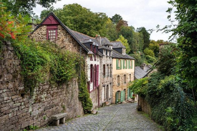 Middeleeuwse huizen in Bretagne