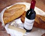 Brood, wijn en kaas