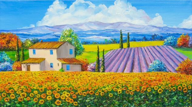 Provence schilderij