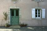 Voordeur van een traditioneel Frans huis.