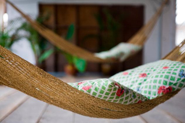 Hangmatten bij  vakantiehuis