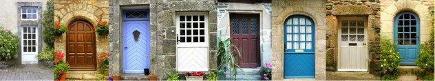 oude  huisdeuren in frankrijk