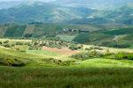 Heuvellandschap in Frankrijk