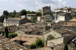 Panorama foto van een stad op het Franse platteland