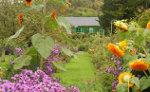 Huisje in tuin in Frankrijk