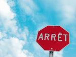 Verkeersbord Frankrijk Stop teken