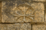 Cross carved in Sarlat, France