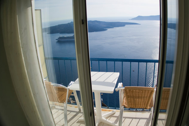 Uitzicht vanuit hotelkamer Griekenland