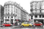 Straat met auto's in Parijs