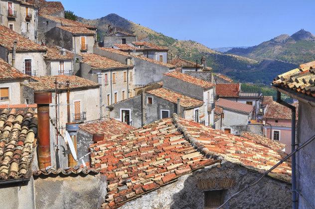 Calabria Panoramic view of Morano Calabro