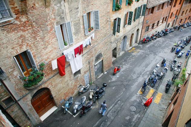 Straat in Ligurische stad