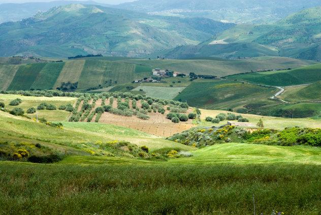 Platteland Sicilië
