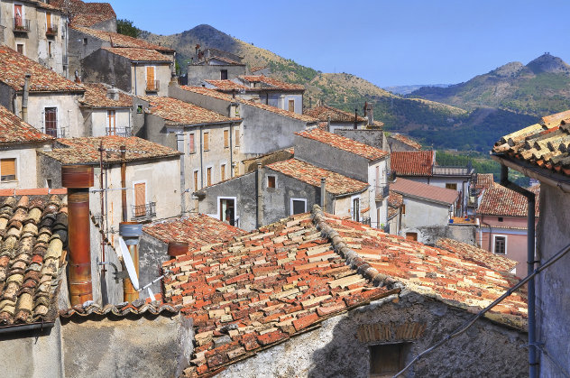 Panoramic view of Morano Calabro