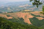 Heuvellandschap nabij Macerate in Marche, Italië