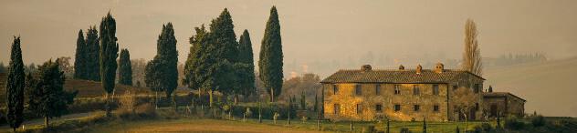 Toscaanse  boerderij in de buurt van Pienza in de provincie Siena
