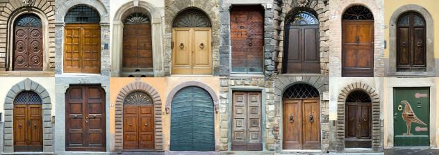 Collage oude  deuren