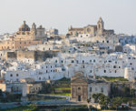 Het centrum van Ostuni in Puglia