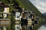 Oostenrijks dorpje aan een meer