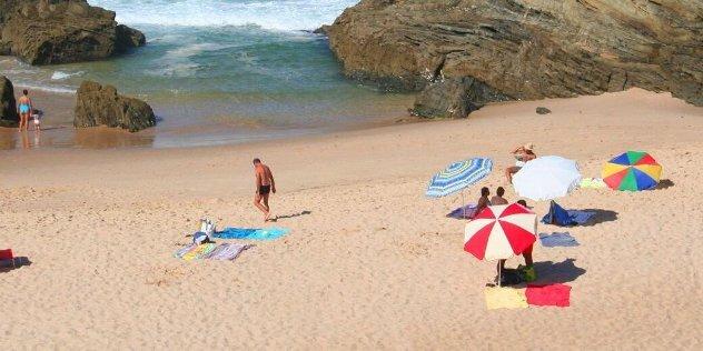 Op een portugees strand