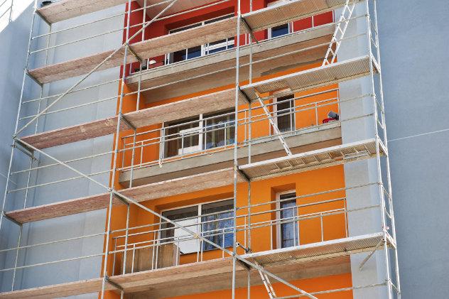 Renovatie flatgebouw