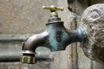 Bronzen waterkraan