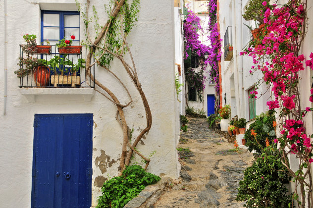 Straat in Cadaques