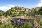 The village of Deia on Mallorca