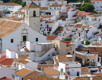 Overlooking the white town of Colmenar in the Spanish province of Málaga in Andalusia