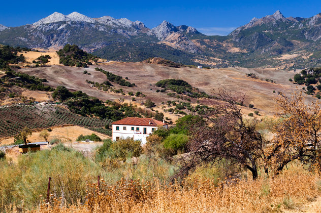 Spaanse platteland met bergen