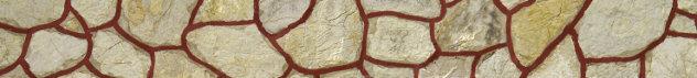 Detail  muurpleister beige rood huismuur