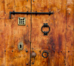 Old wooden door Ibiza