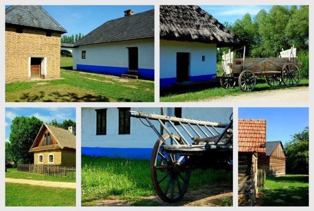 Boerderijen op het Tsjechisch platteland