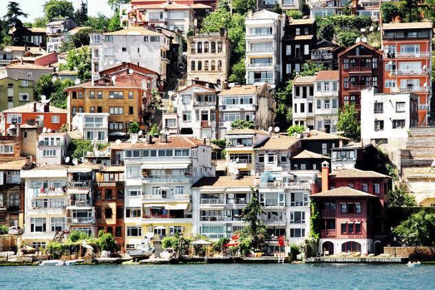 Huizen  aan de Bosporus