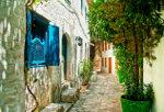 Nauwe straat in Turkse stad