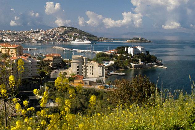 Stad aan kust in Turkije