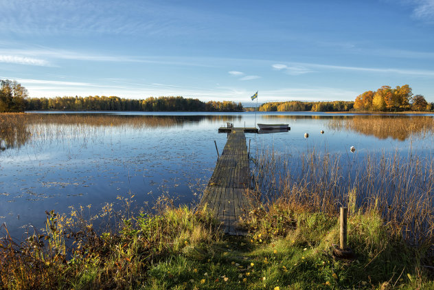 Beautiful autumn morning in Sweden
