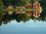 Vakantiehuizen aan een meer in Zweden