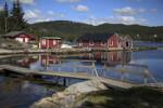 Huisjes aan de Zweedse kust